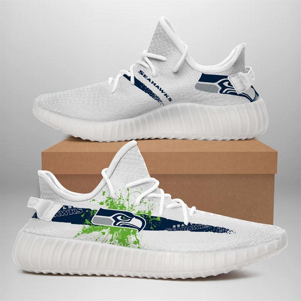Seattle Seahawks Nfl Sport Teams Runing Yeezy Sneakers Shoes