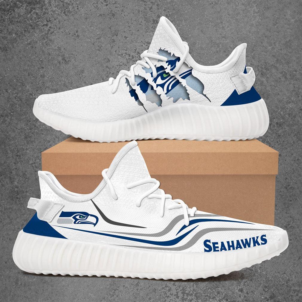 Seattle Seahawks Nfl Sport Teams Yeezy Sneakers Shoes
