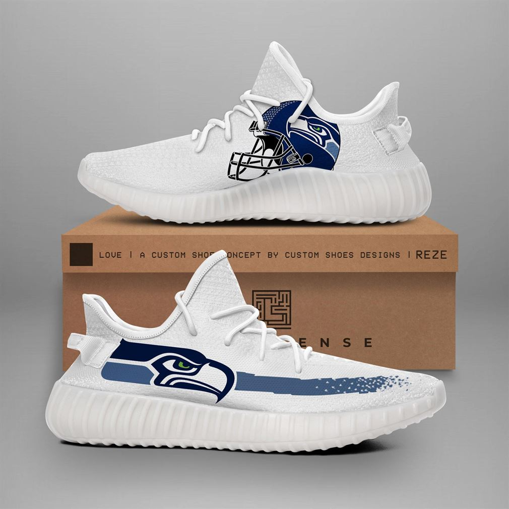 Seattle Seahawks Nfl Teams Runing Yeezy Sneakers Shoes