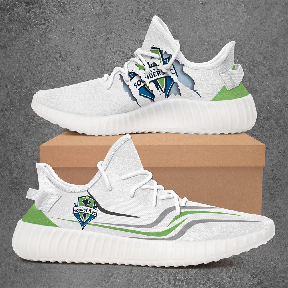 Seattle Sounders Fc Mls Sport Teams Yeezy Sneakers Shoes White