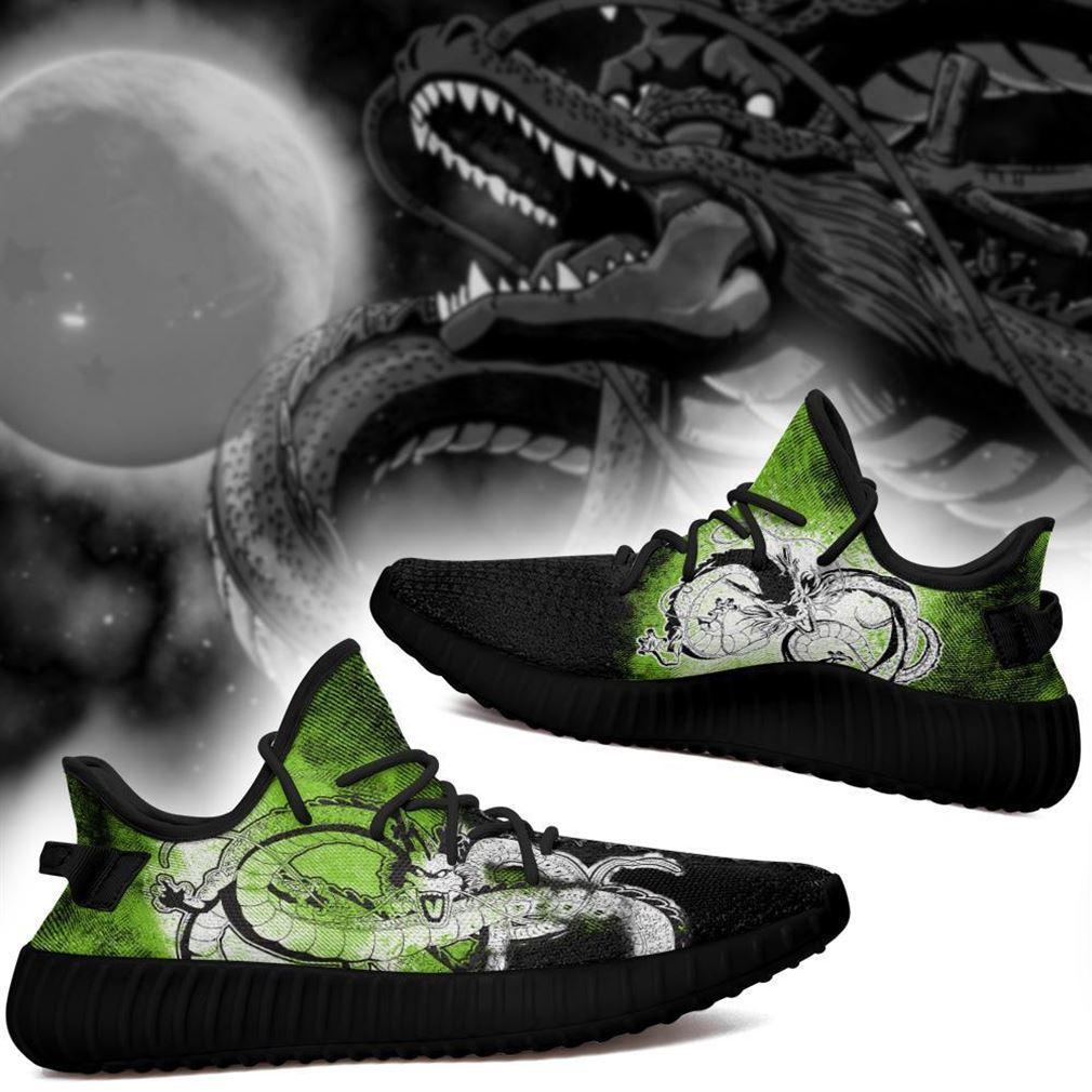 Shenron Silhouette Yz Sneakers Skill Custom Dragon Ball Z Shoes Anime Yeezy Sneakers Shoes Black