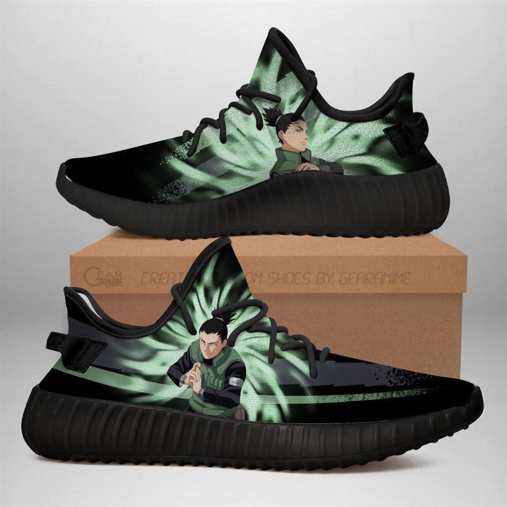 Shikimaru Jutsu Yz Sneakers Naruto Anime Shoes Yeezy Sneakers Shoes Black