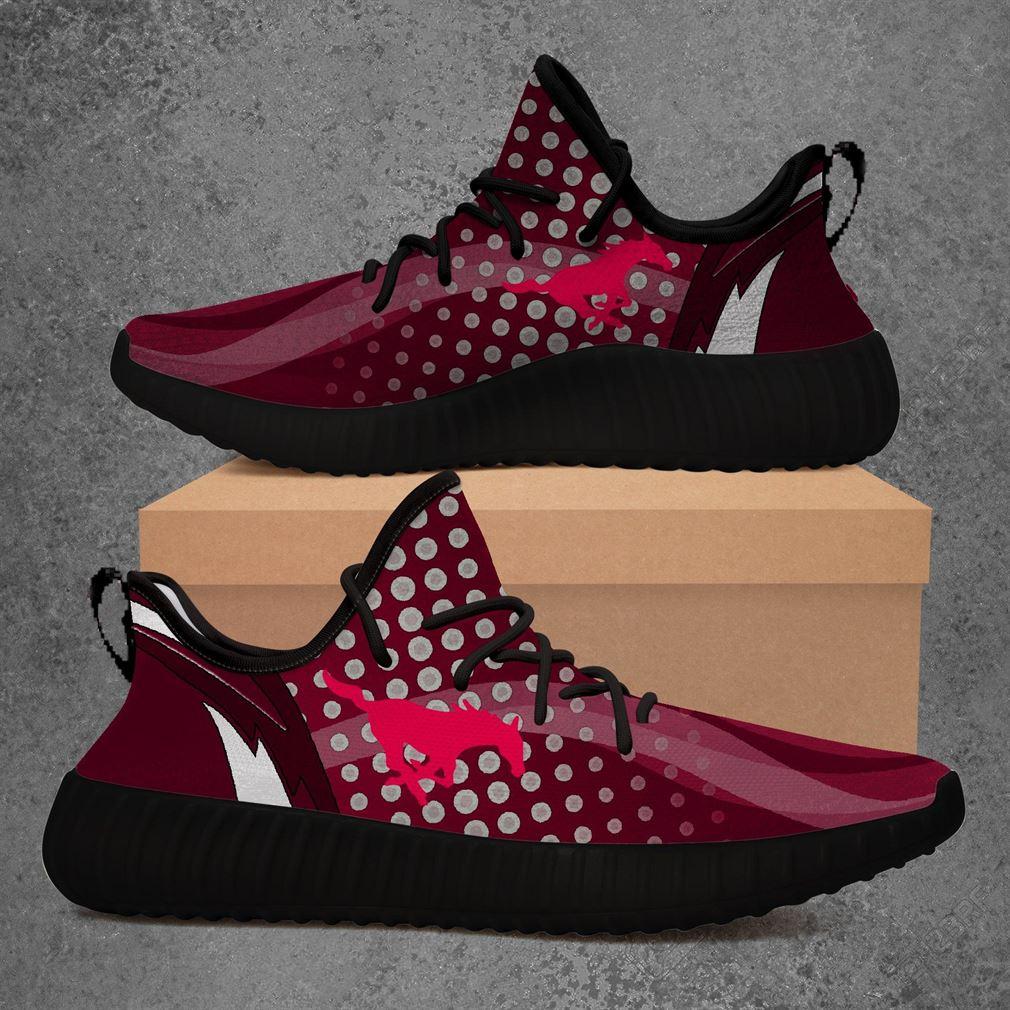 Smu Mustangs Ncaa Sport Teams Yeezy Sneakers Shoes