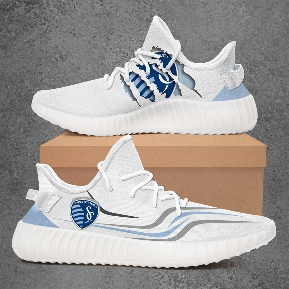 Sporting Kansas City Fc Us Open Cup Sport Teams Yeezy Sneakers Shoes White
