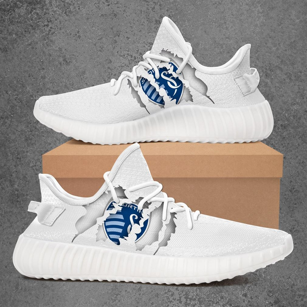 Sporting Kansas City Mls Sport Teams Yeezy Sneakers Shoes White Ngaes