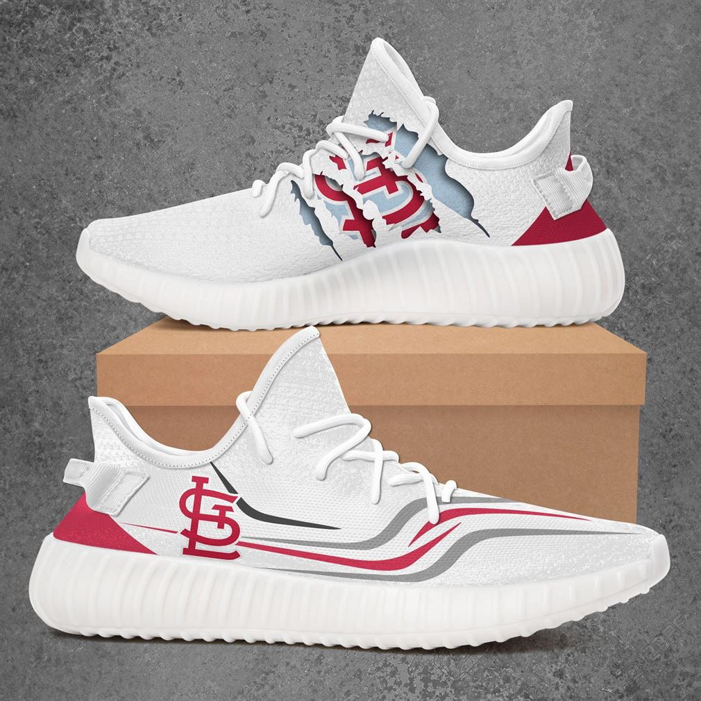 St Louis Cardinals Mlb Sport Teams Yeezy Sneakers Shoes White