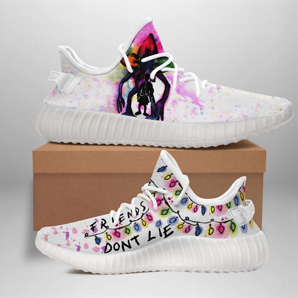 Stranger Things Demogorgon White Yeezy Sneakers Shoes