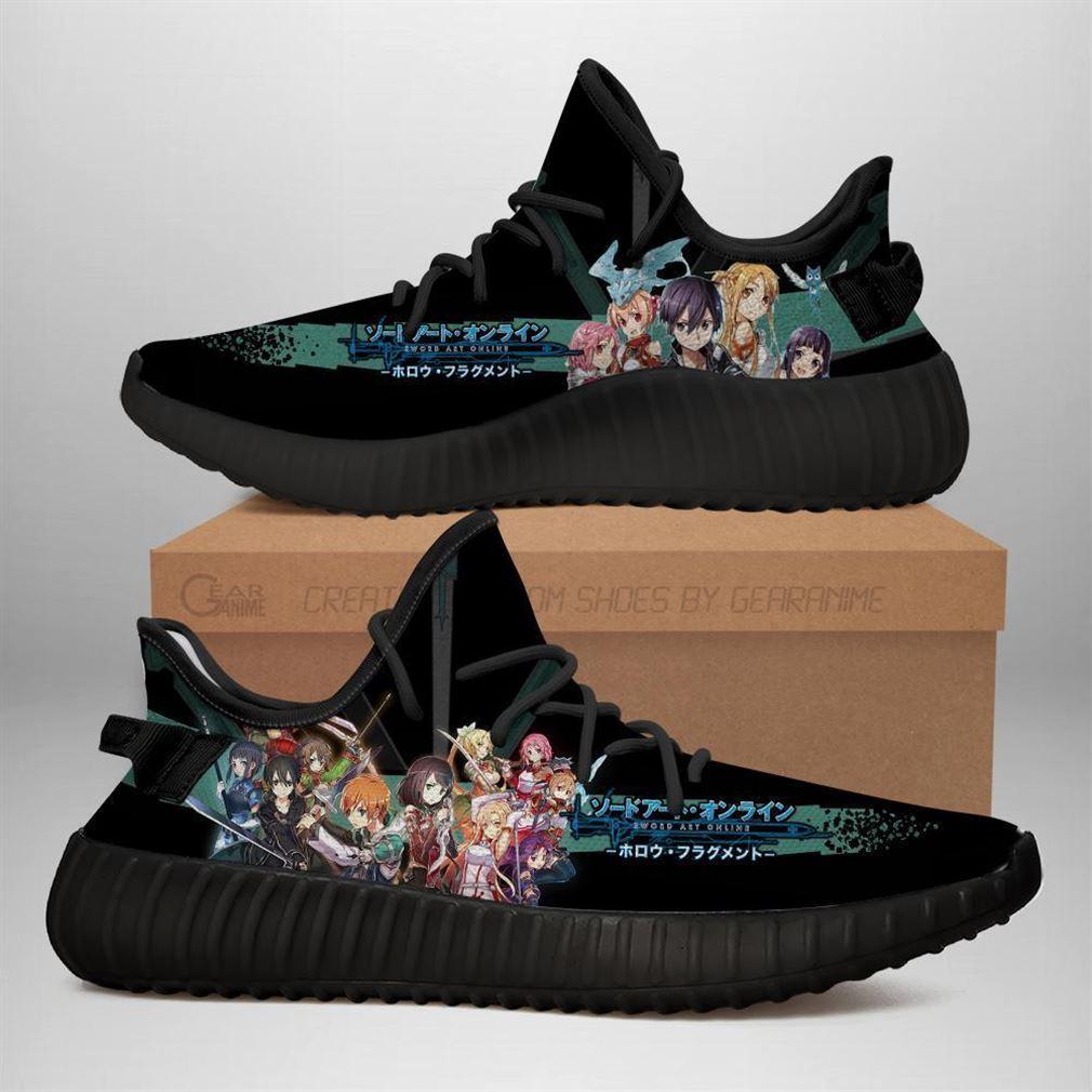 Sword Art Online Yz Sneakers Anime Shoes Yeezy Sneakers Shoes Black