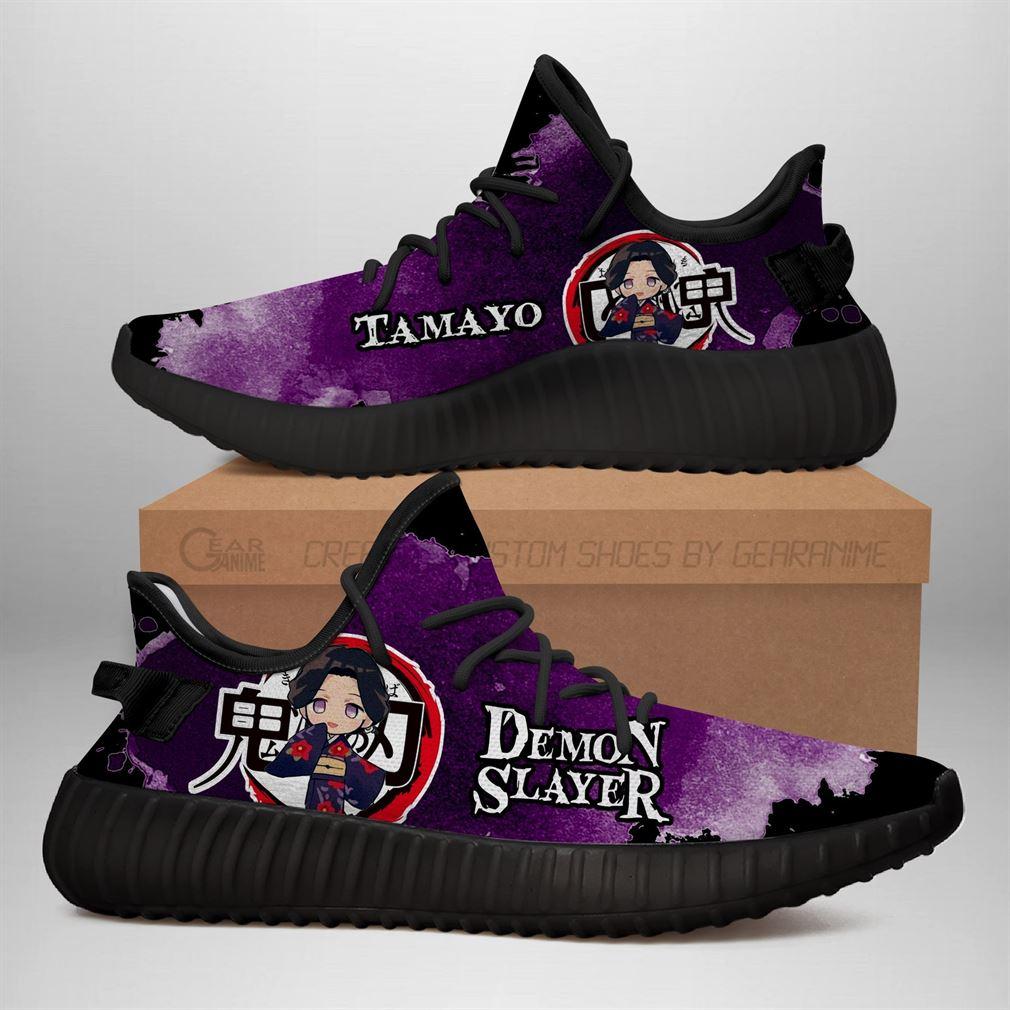 Tamayo Yz Sneakers Demon Slayer Shoes Anime Yeezy Sneakers Shoes Black