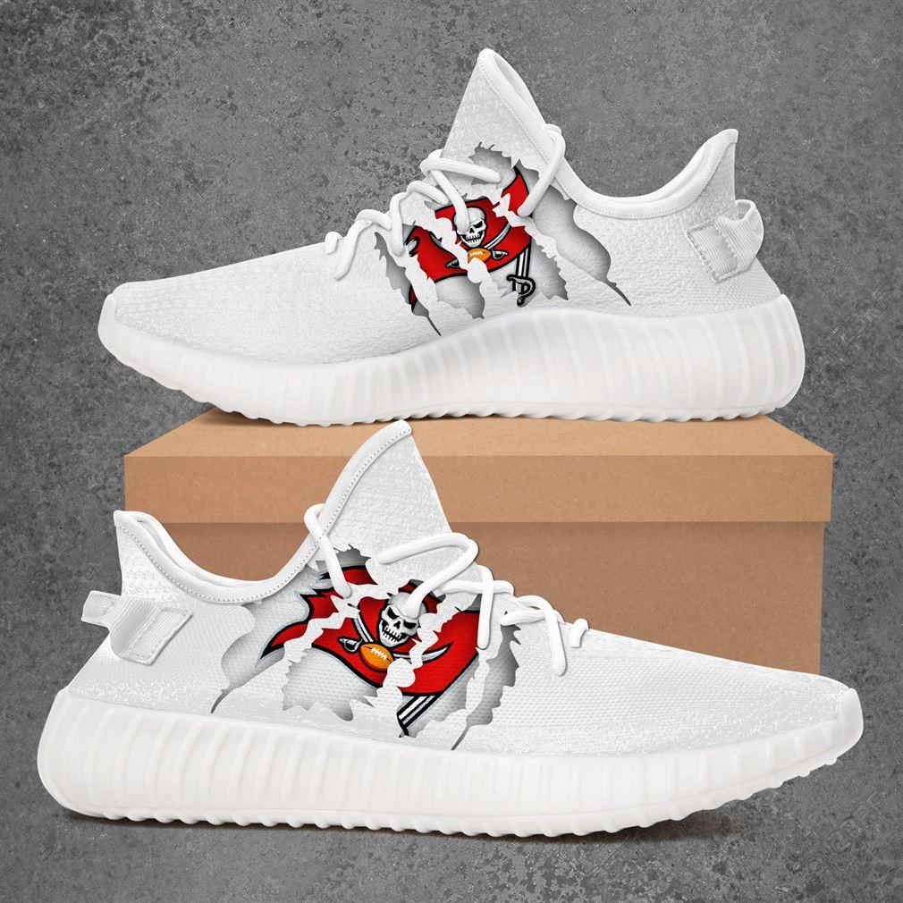 Tampa Bay Buccaneers Nfl Sport Teams Yeezy Sneakers Shoes White