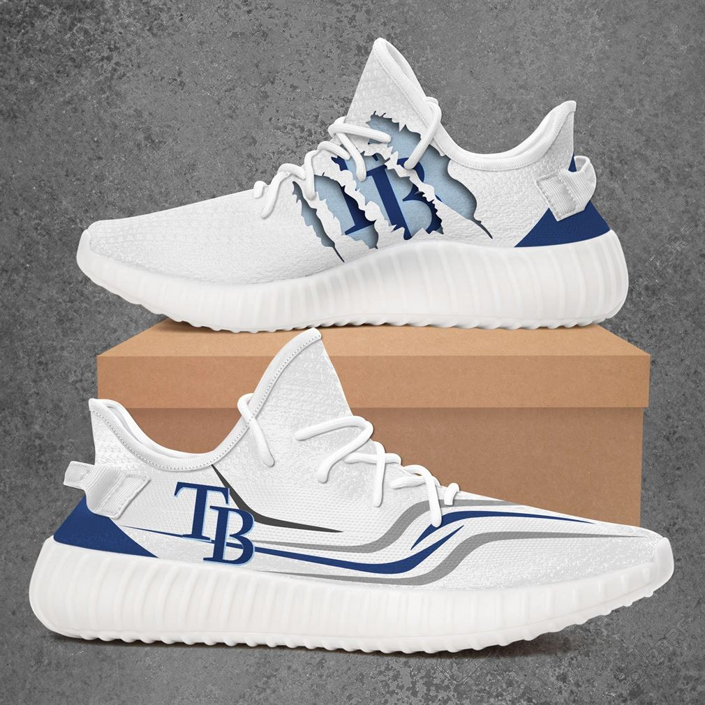 Tampa Bay Rays Mlb Sport Teams Yeezy Sneakers Shoes White