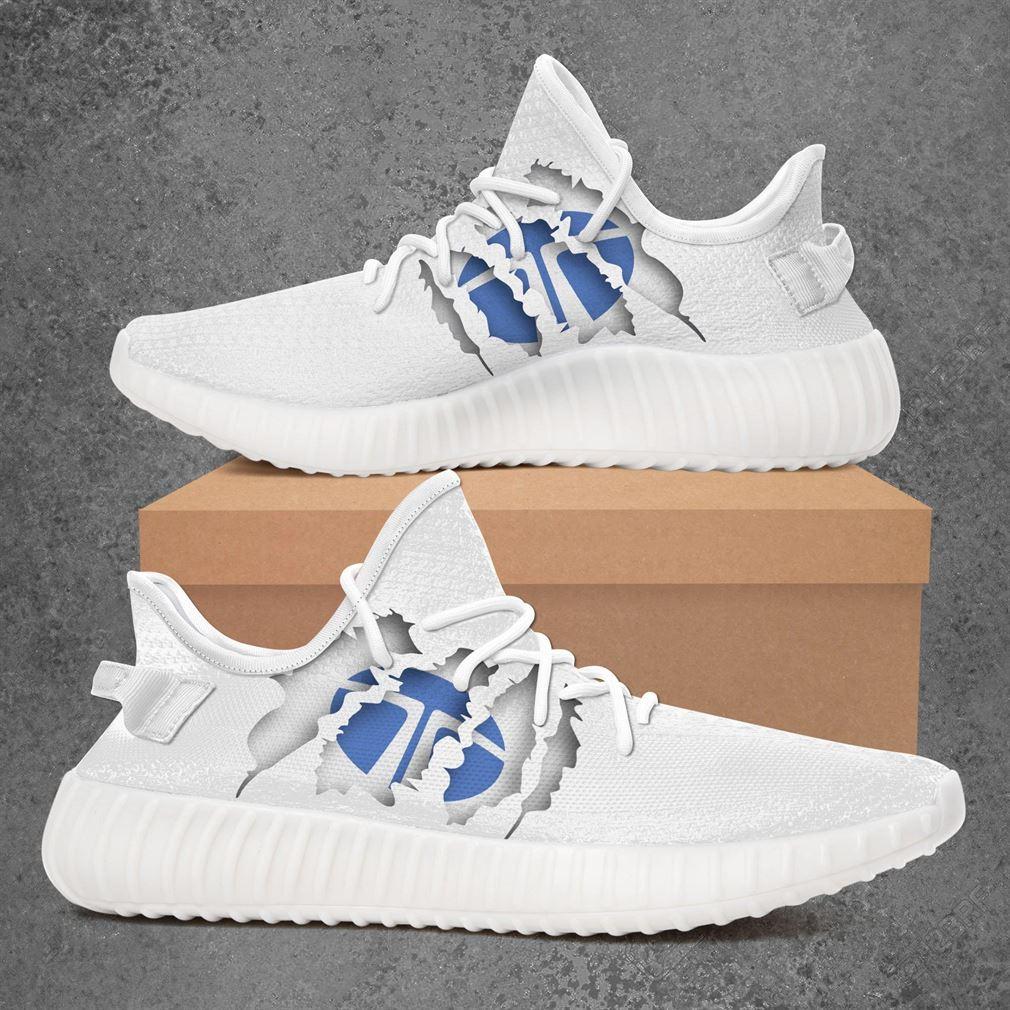 Tata Motors Car Yeezy Sneakers Shoes White