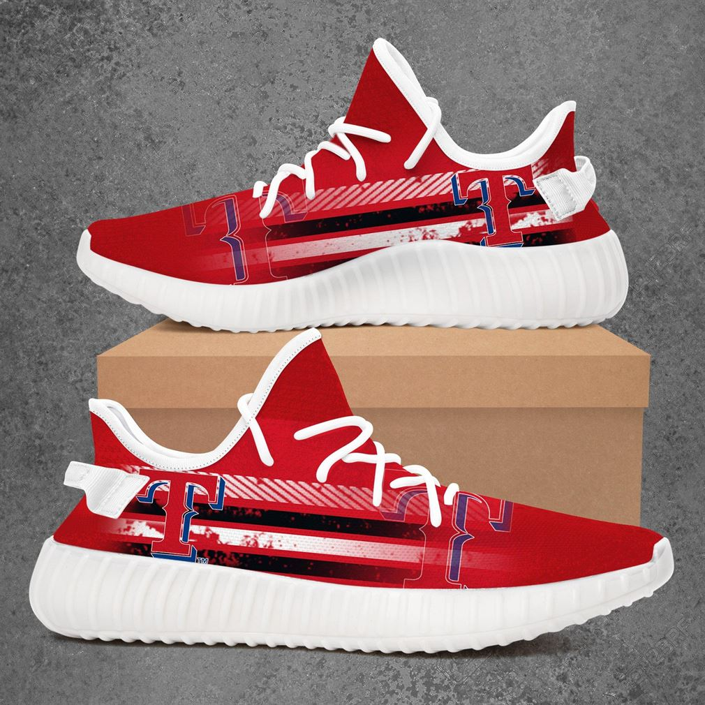 Texas Rangers Mlb Baseball Yeezy Sneakers Shoes