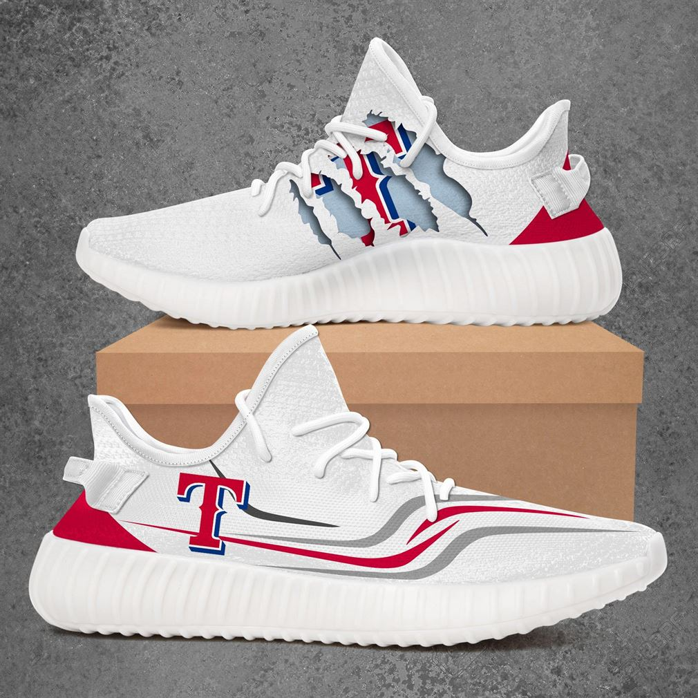 Texas Rangers Mlb Sport Teams Yeezy Sneakers Shoes White