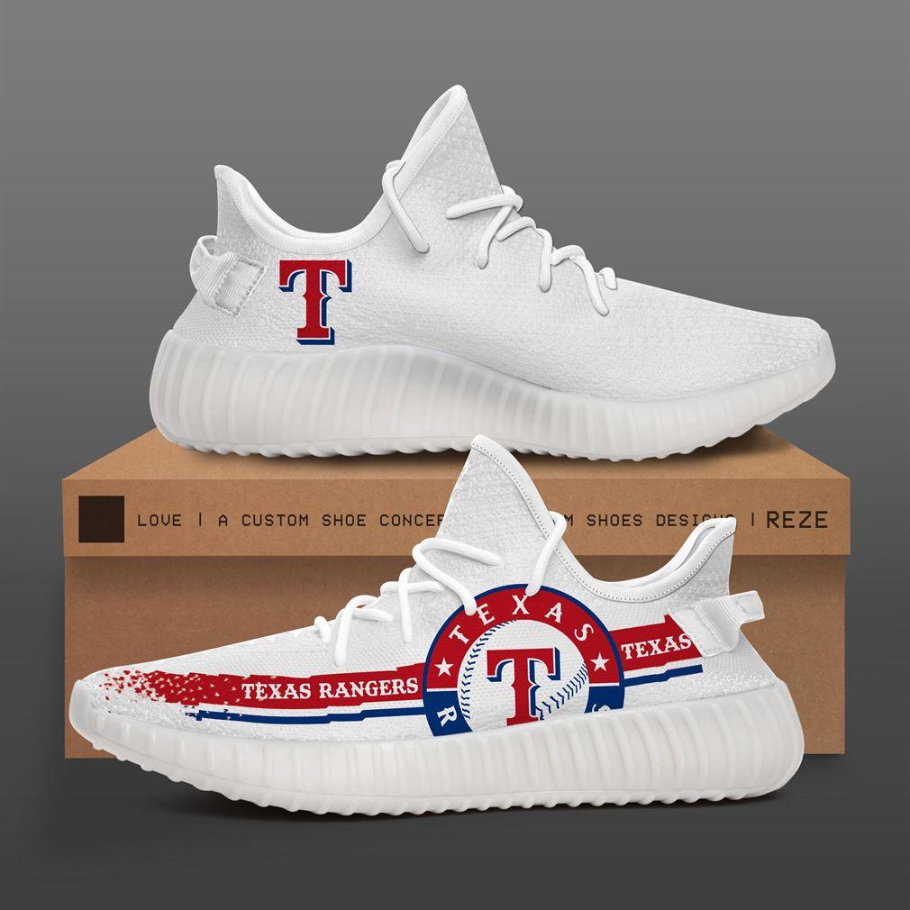 Texas Rangers Mlb Teams Runing Yeezy Sneakers Shoes