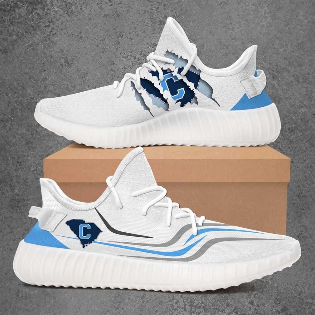 The Citadel Bulldogs Ncaa Sport Teams Yeezy Sneakers Shoes White