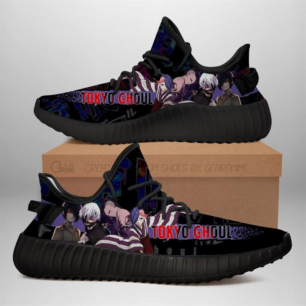 Tokyo Ghoul Yz Sneakers Anime Shoes Yeezy Sneakers Shoes Black