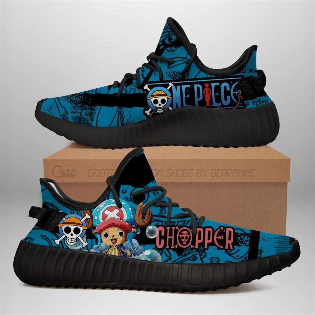 Tony Tony Chopper Yz Sneakers One Piece Anime Shoes Yeezy Sneakers Shoes Black