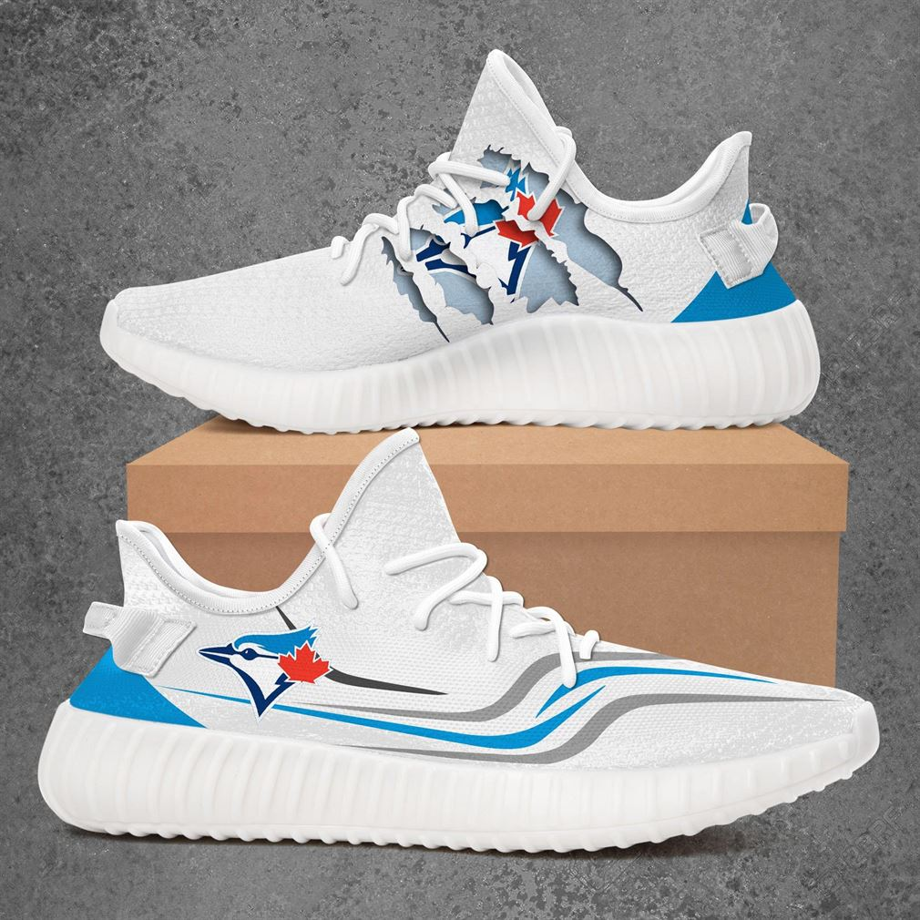 Toronto Blue Jays Mlb Sport Teams Yeezy Sneakers Shoes White