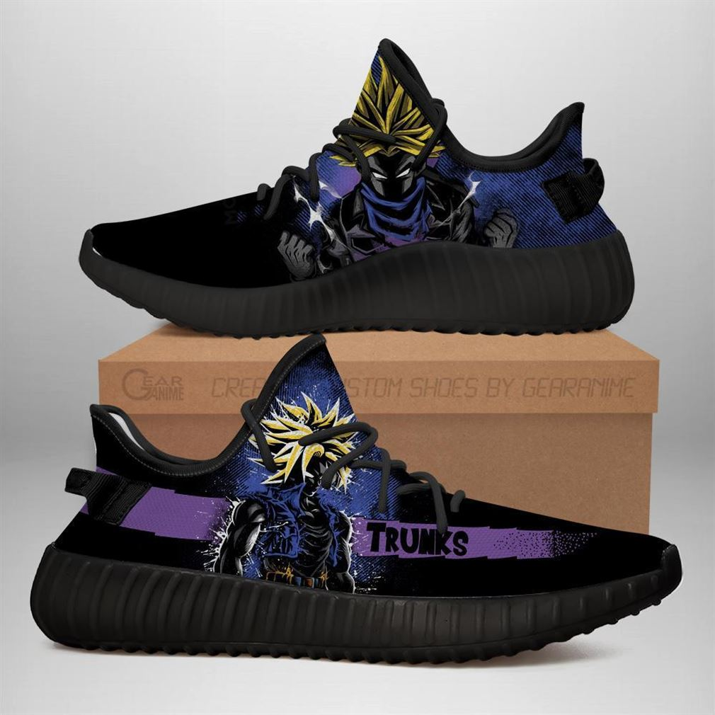 Trunk Super Yz Sneakers Silhouette Dragon Ball Z Anime Shoes Yeezy Sneakers Shoes Black