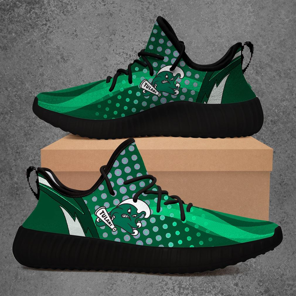 Tulane Green Wave Ncaa Sport Teams Yeezy Sneakers Shoes