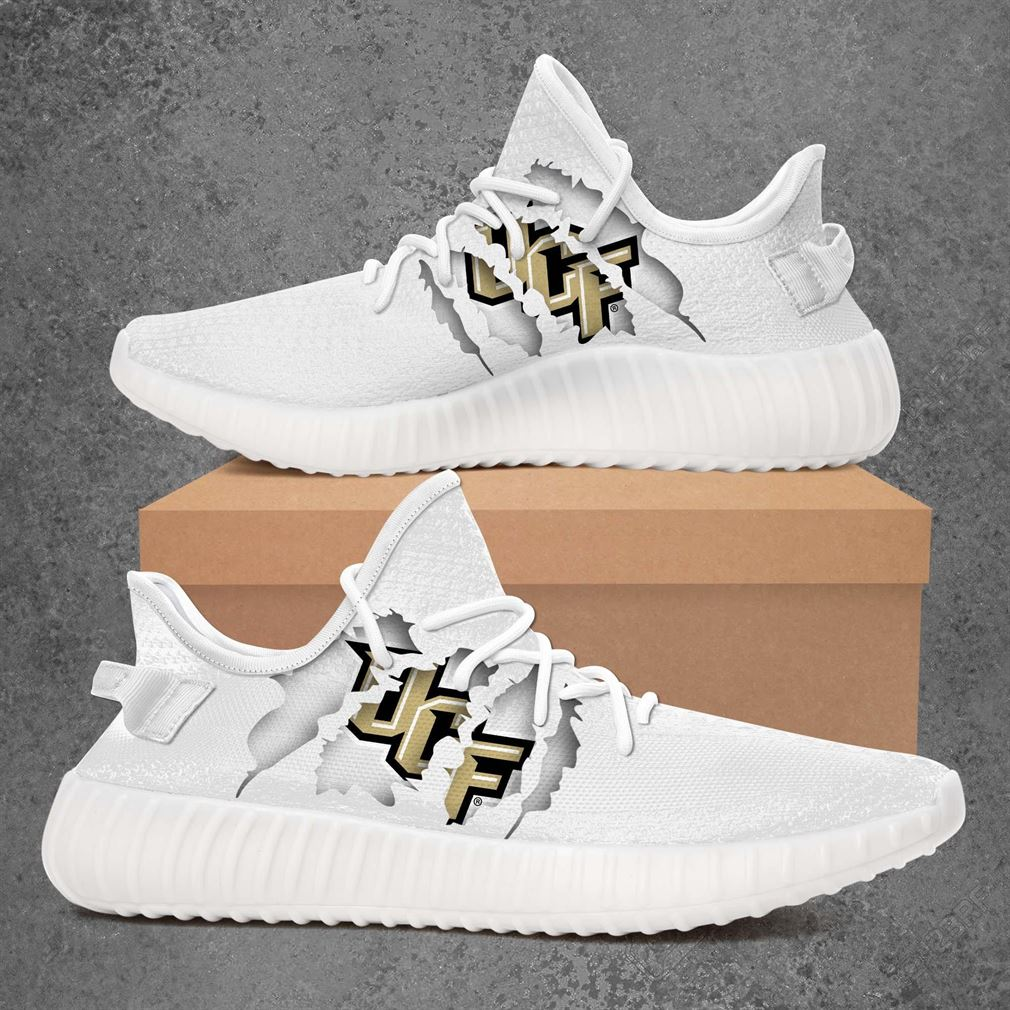 Ucf Knights Ncaa Sport Teams Yeezy Sneakers Shoes White