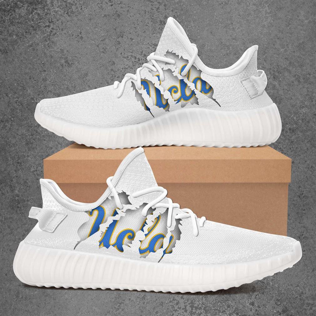Ucla Bruins Ncaa Sport Teams Yeezy Sneakers Shoes White
