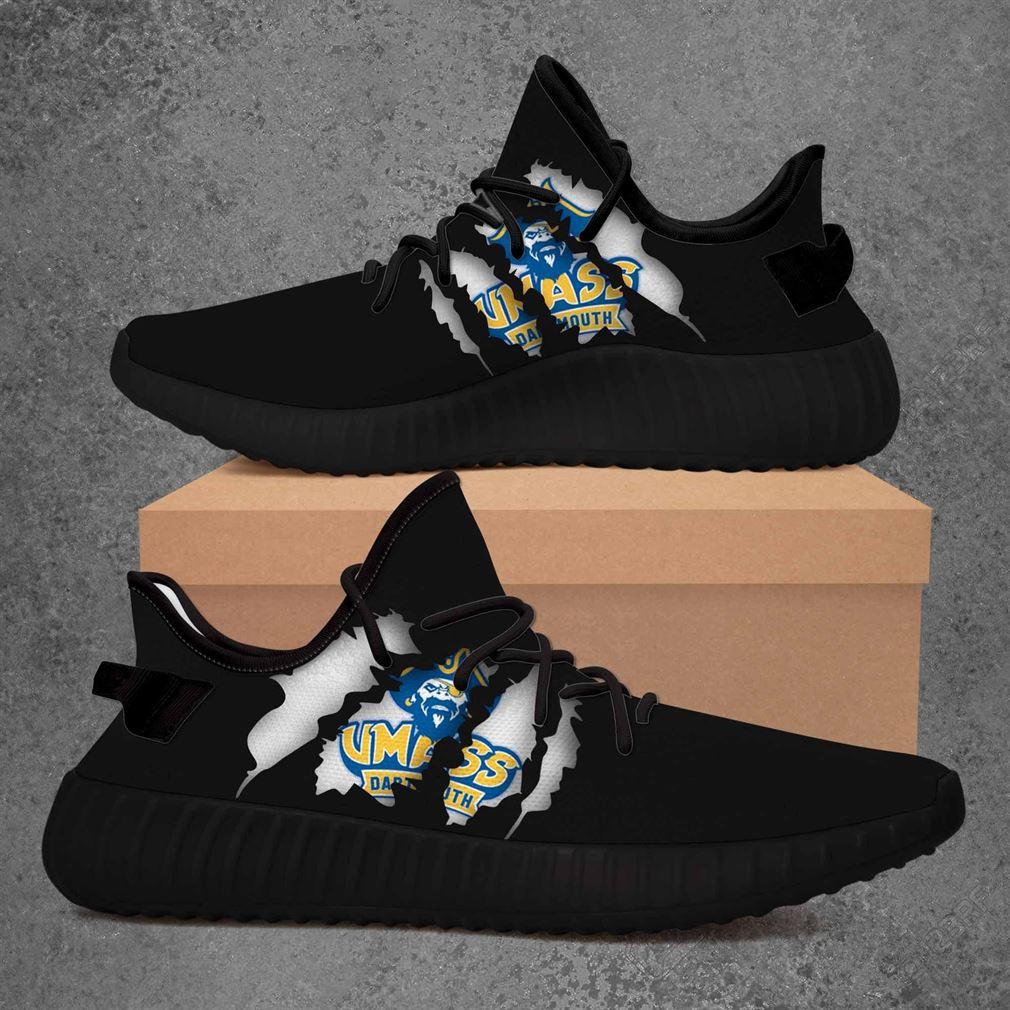 Umass Dartmouth Corsairs Ncaa Yeezy Sneakers Shoes Black