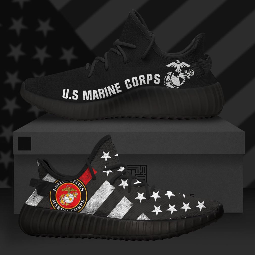 United States Marine Corps Us Army Runing Yeezy Sneakers Shoes