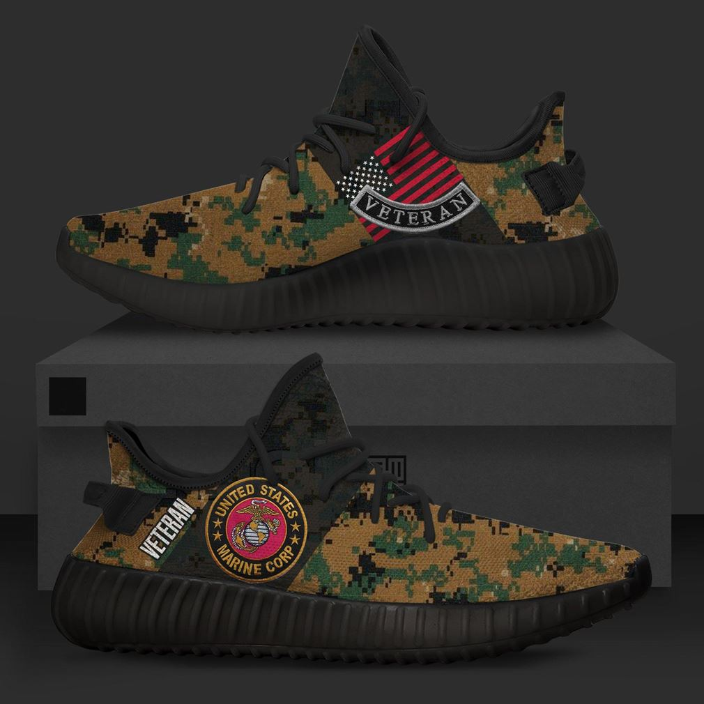United States Us Marines Camo Runing Yeezy Sneakers Shoes