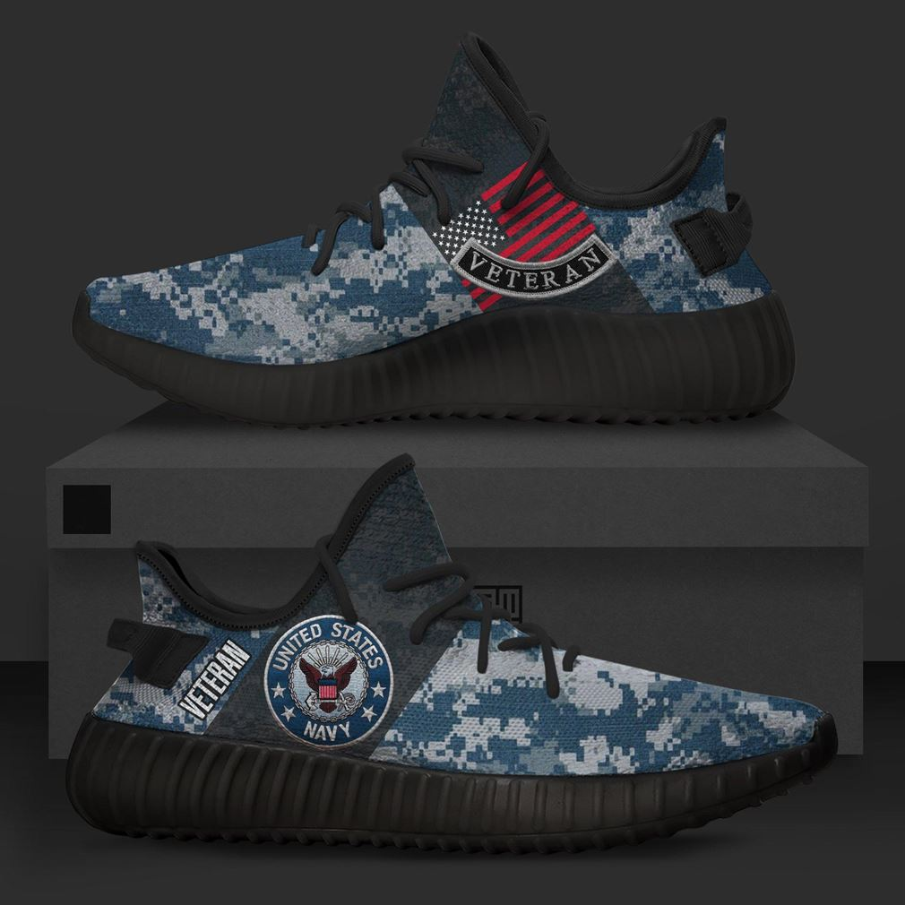 United States Us Navy Veteran Runing Yeezy Sneakers Shoes