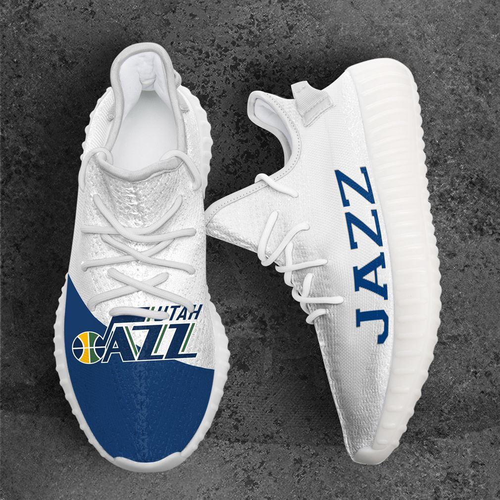 Utah Jazz Mlb Sport Teams Yeezy Sneakers Shoes White