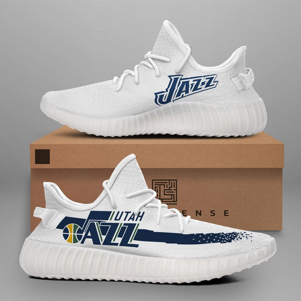 Utah Jazz Nba Teams Runing Yeezy Sneakers Shoes