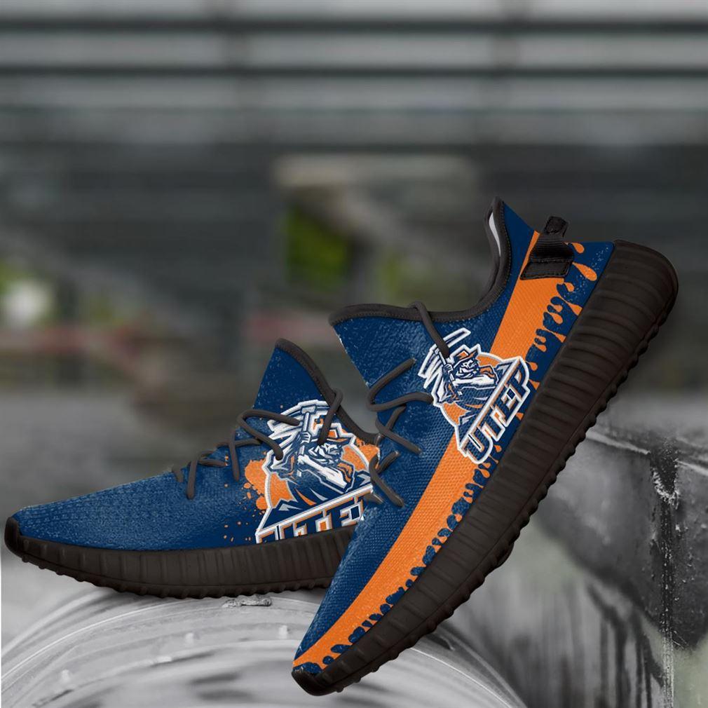 Utep Miners Ncaa Yeezy Sneakers Shoes