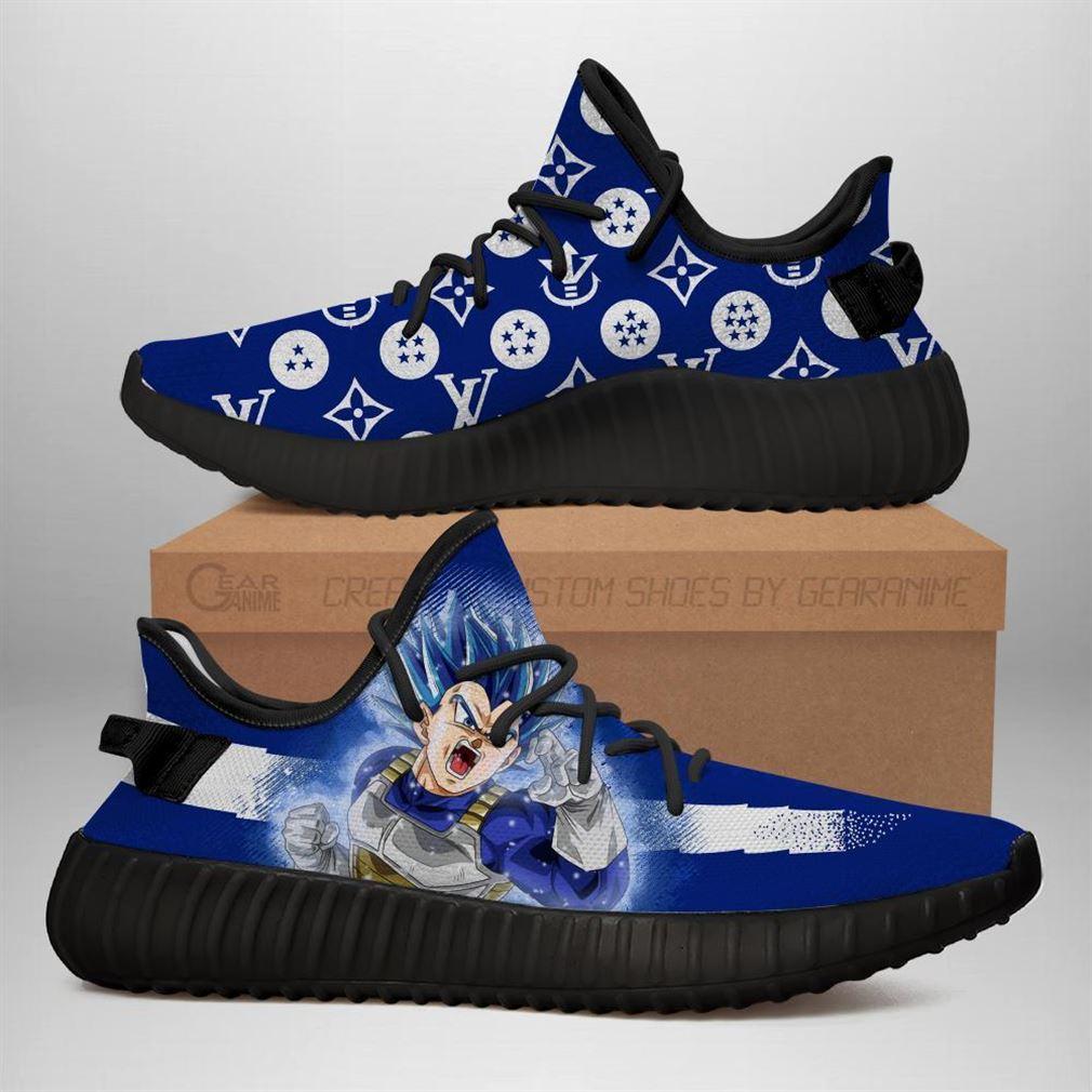 Vegeta Blue Yz Sneakers Dragon Ball Shoes Anime Yeezy Sneakers Shoes Black