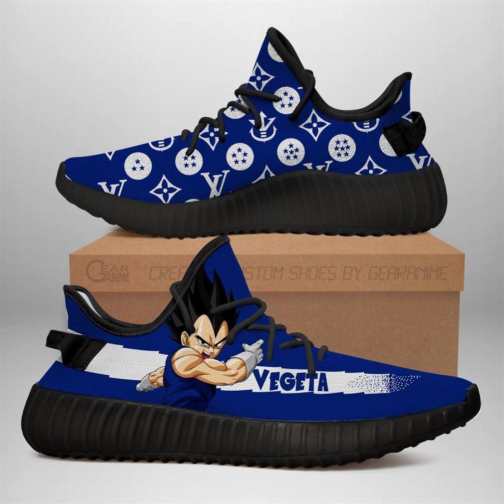 Vegeta Fashion Dragon Ball Yeezy Sneakers Shoes Black