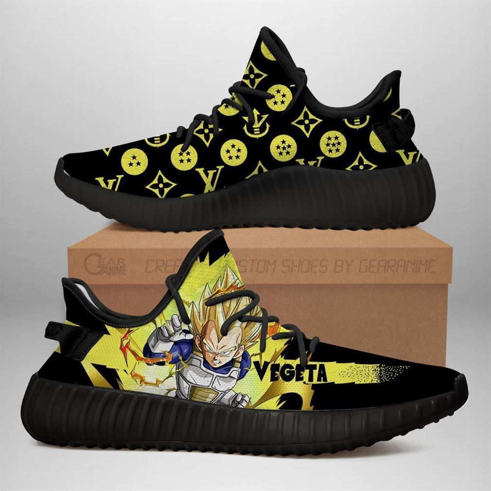 Vegeta Super Saiyan Yz Sneakers Dragon Ball Shoes Anime Yeezy Sneakers Shoes Black