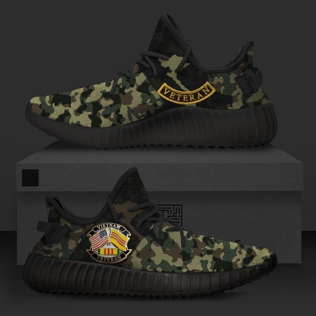 Vietnam Veteran Camo Runing Yeezy Sneakers Shoes