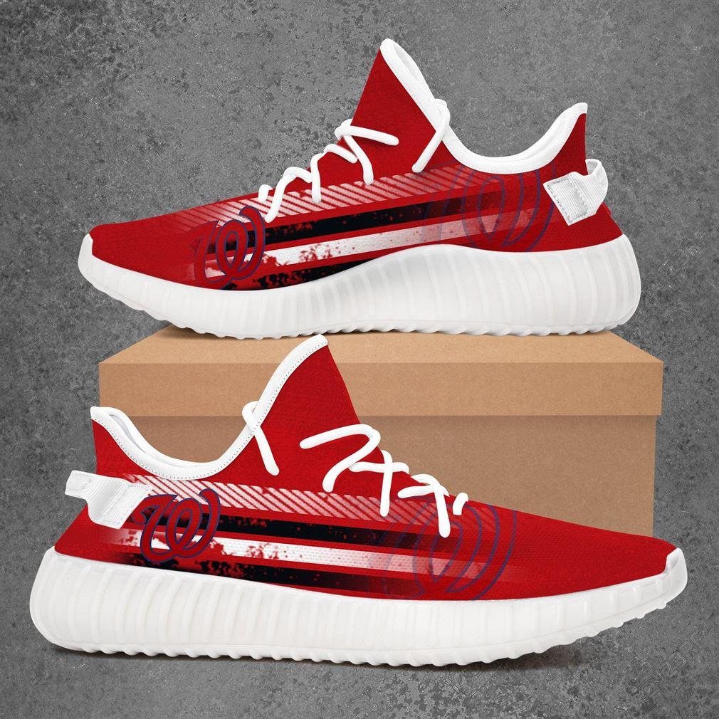 Washington Nationals Mlb Baseball Yeezy Sneakers Shoes