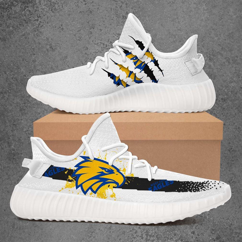 West Coast Eagles Nfl Sport Teams Yeezy Sneakers Shoes