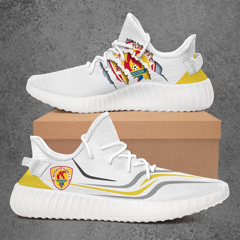 Westchester Flames Usl League Two Sport Teams Yeezy Sneakers Shoes White