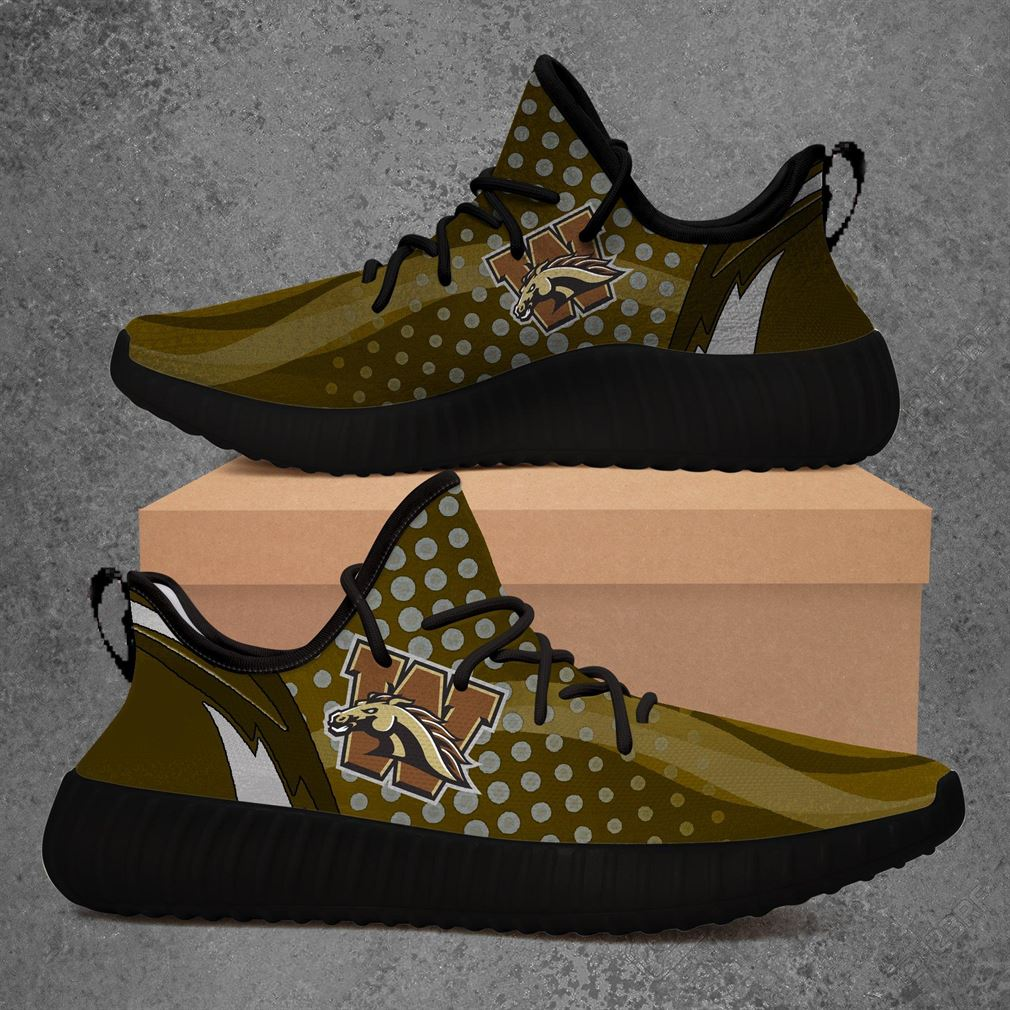 Western Michigan Broncos Ncaa Sport Teams Yeezy Sneakers Shoes