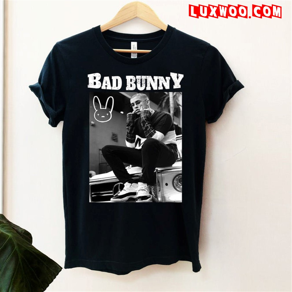Bad Bunny Black And White T-shirt Bad Bunny Shirt Bad Bunny Sweatshirt Bad Bunny Merch Plus Size Up To 5xl