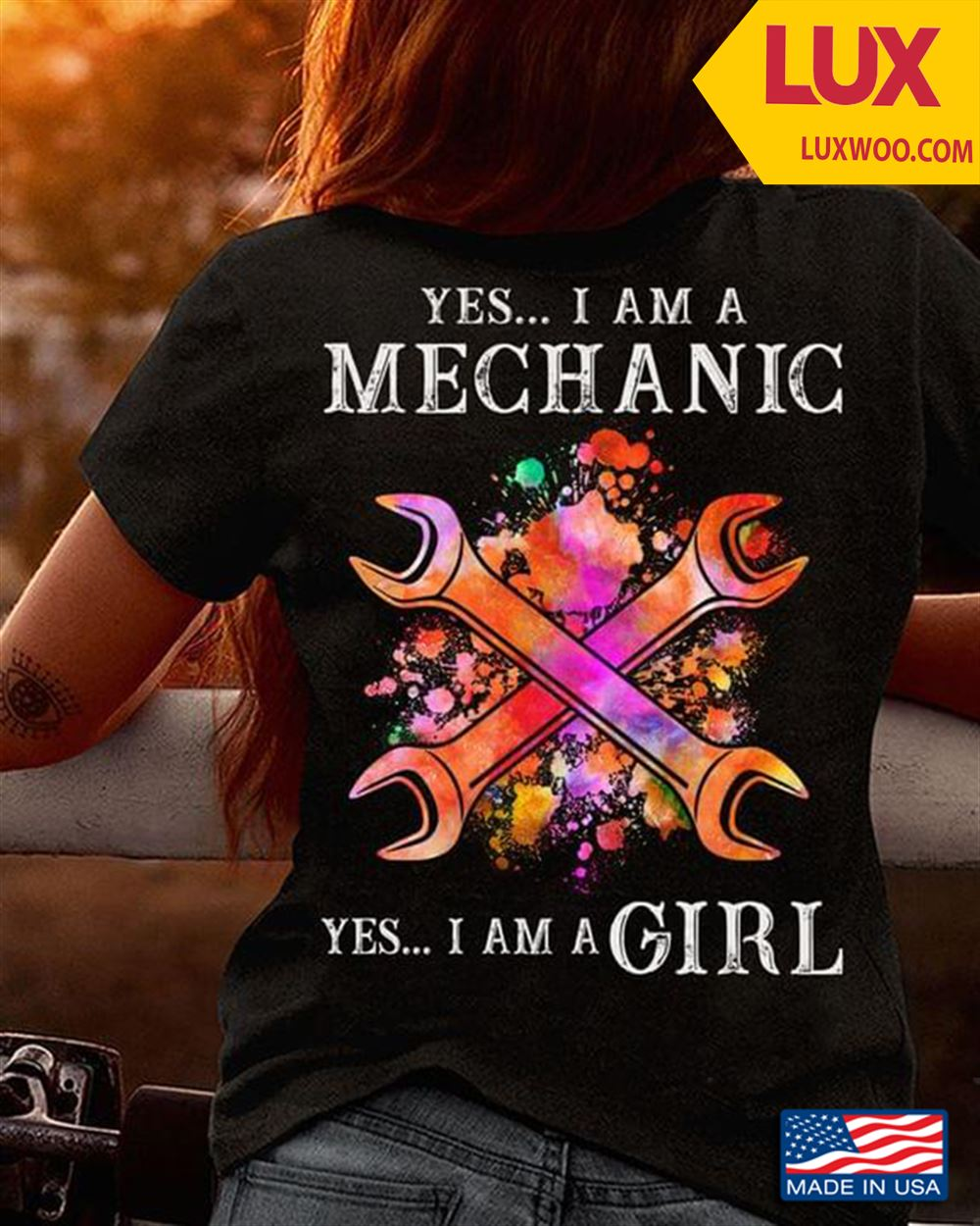Yes I Am A Mechanic Yes I Am A Girl Tshirt Size Up To 5xl