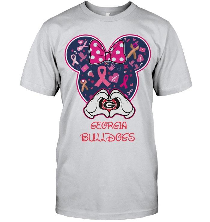 Ncaa Georgia Bulldogs Minnie Br East Cancer Love Shirt