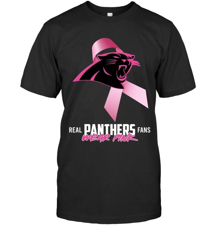 Nfl Carolina Panthers Real Fans Wear Pink Br East Cancer Support Shirt Hoodie Size Up To 5xl