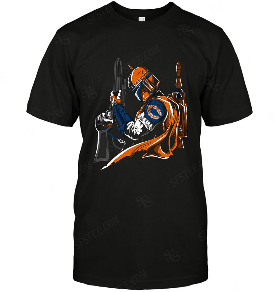 Nfl Chicago Bears Boba Fett Star Wars Long Sleeve Plus Size Up To 5xl