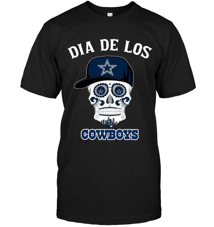 Nfl Dallas Cowboys Dia De Los Dallas Cowboys Sugar Skull Poco Loco Shirt Tshirt Size Up To 5xl