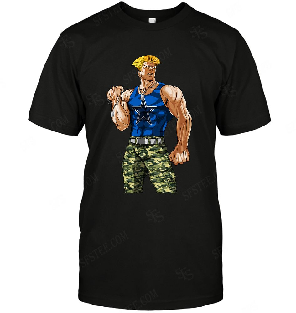 Nfl Dallas Cowboys Guile Nintendo Street Fighter Tshirt Size Up To 5xl