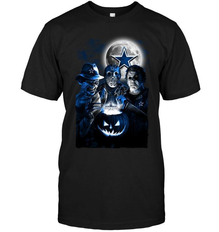 Nfl Dallas Cowboys Halloween Freddy Krueger Jason Michael Myers Fan Shirt Sweater Plus Size Up To 5xl